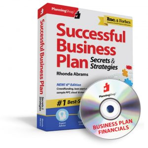 Combine Successful Business Plan: Secrets and Strategies with Business Plan Financials and you have a winning combination for starting your business.