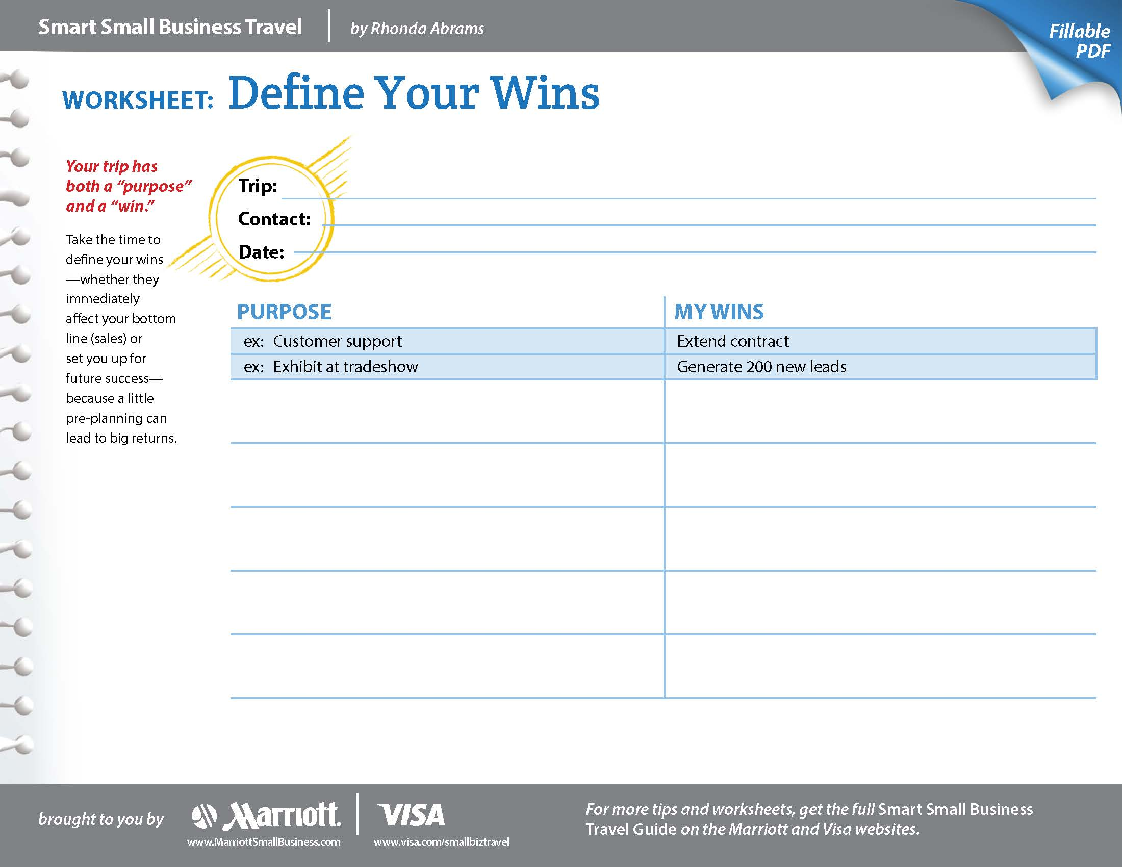 small business worksheets