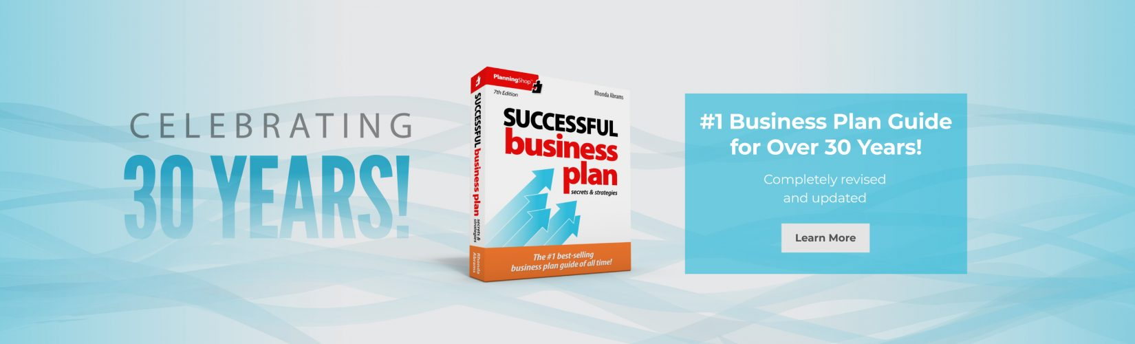 #1 Business Plan Guide for Over 30 Years!